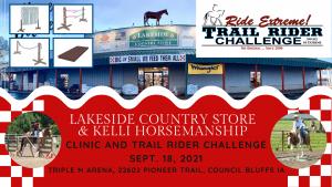 clinic trail rider challenge triple m arena lakeside country store kelli horsemanship